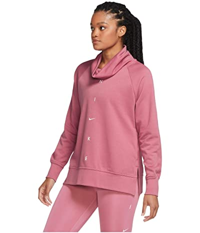 Nike Dry Get Fit Fleece Cowl Neck Graphic (Desert Berry/Pink Foam) Women