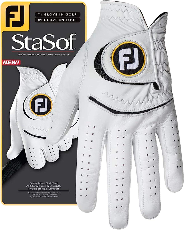 FootJoy Men's StaSof Golf Glove White Han Portland Under blast sales Mall on X-Large Right Worn