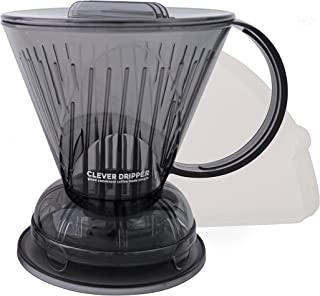 Clever Coffee Dripper Barista's Choice - Bonus 100 Filters Included (18oz Large, Cloud)