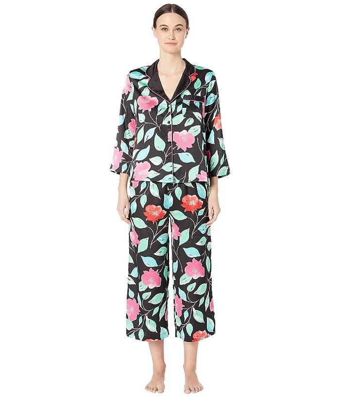 Kate Spade New York Charmeuse Cropped Pajama Set (Garden) Women