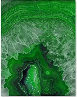 Green Geode - 11x14 Unframed Art Print - Makes a Great Home Decor Under $15