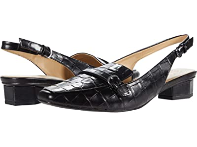 Naturalizer Finlay (Black Glazed Croco) Women