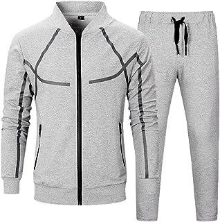 Men's Tracksuit Set 2 Piece Athletic Sports Casual Full Zip Active wear Sweatsuit