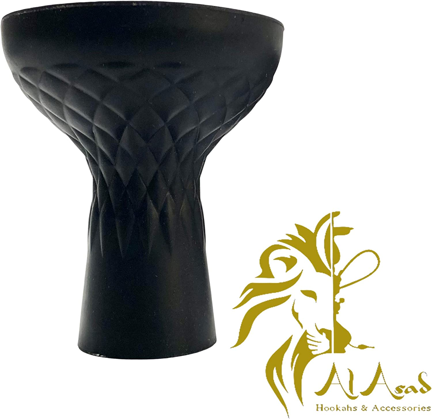 Diamond Cut Design Engraved Bowl Silicone Choice Hookah NEW before selling ☆