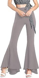 Summer Pants Women Springy High Waist Bell Bottom Pants Flare Pants Wide Leg Pants Female