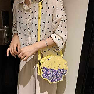 ZZZ One-shoulder Fashion Messenger Bag Trend Chic European And American Quicksand Sequins Shell Wild Personality fashion (Color : Yellow)