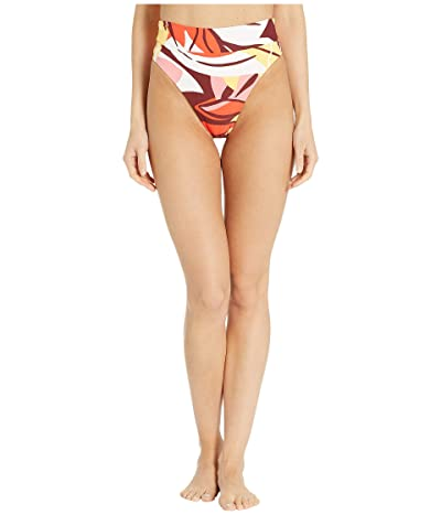 Seafolly Cut Copy High Rise Wide Band Bikini Bottom (Tangelo) Women