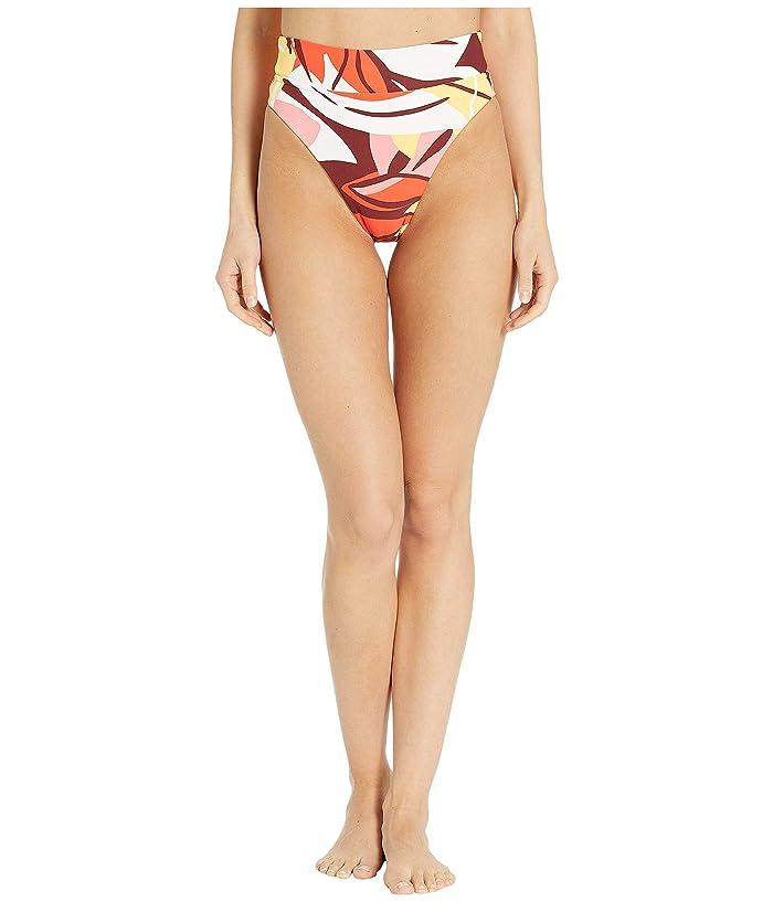 Seafolly Cut Copy High Rise Wide Band Bikini Bottom (Tangelo) Women