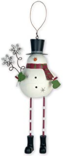 Sunset Vista Design Holiday Ornament, Jolly Snowman
