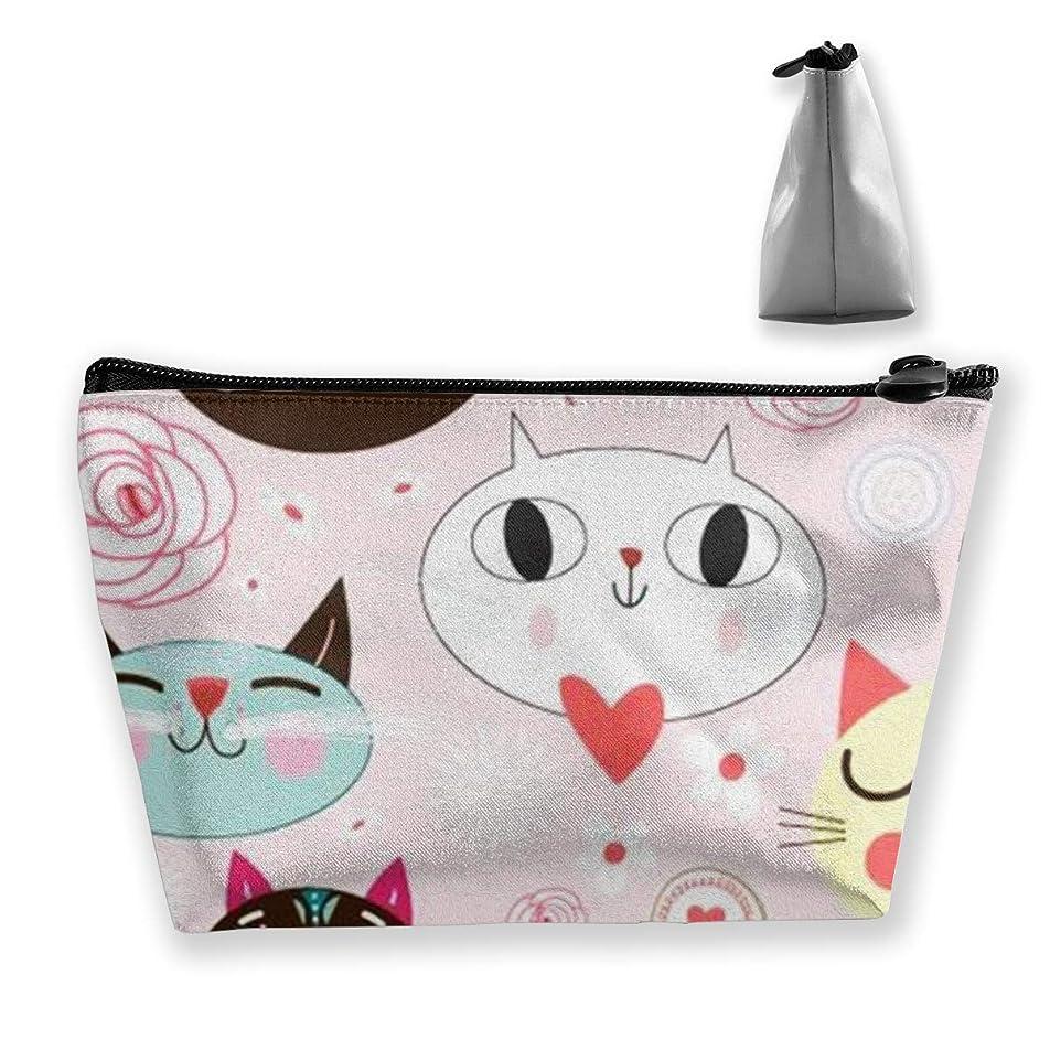 上院議員間違えた扇動する収納ポーチ 可愛い猫 化粧ポーチ トラベルポーチ 小物入れ 小財布 防水 大容量 旅行 おしゃれ