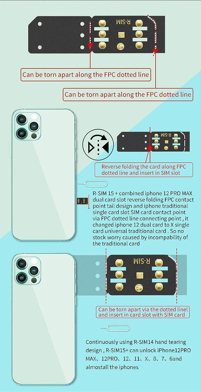 15 Nano Unlock RSIM Card Fit for 12 mi-ni 12 Pro XS MAX 8 IOS 14 Flymotor R-SIM15