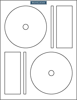 1000 CD DVD Labels Blank Labels Brand fits Memorex Full Face Compatible. Small Center Style. 1,000 Total Labels with Spine and Case Labels. Compare to Matte Finish Memorex Labels. Laser & Ink Jet