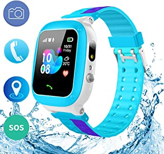 Kids Waterproof GPS Smart Watch Phone Girls Boys Toddler with HD Two-Way Call SOS 1.44