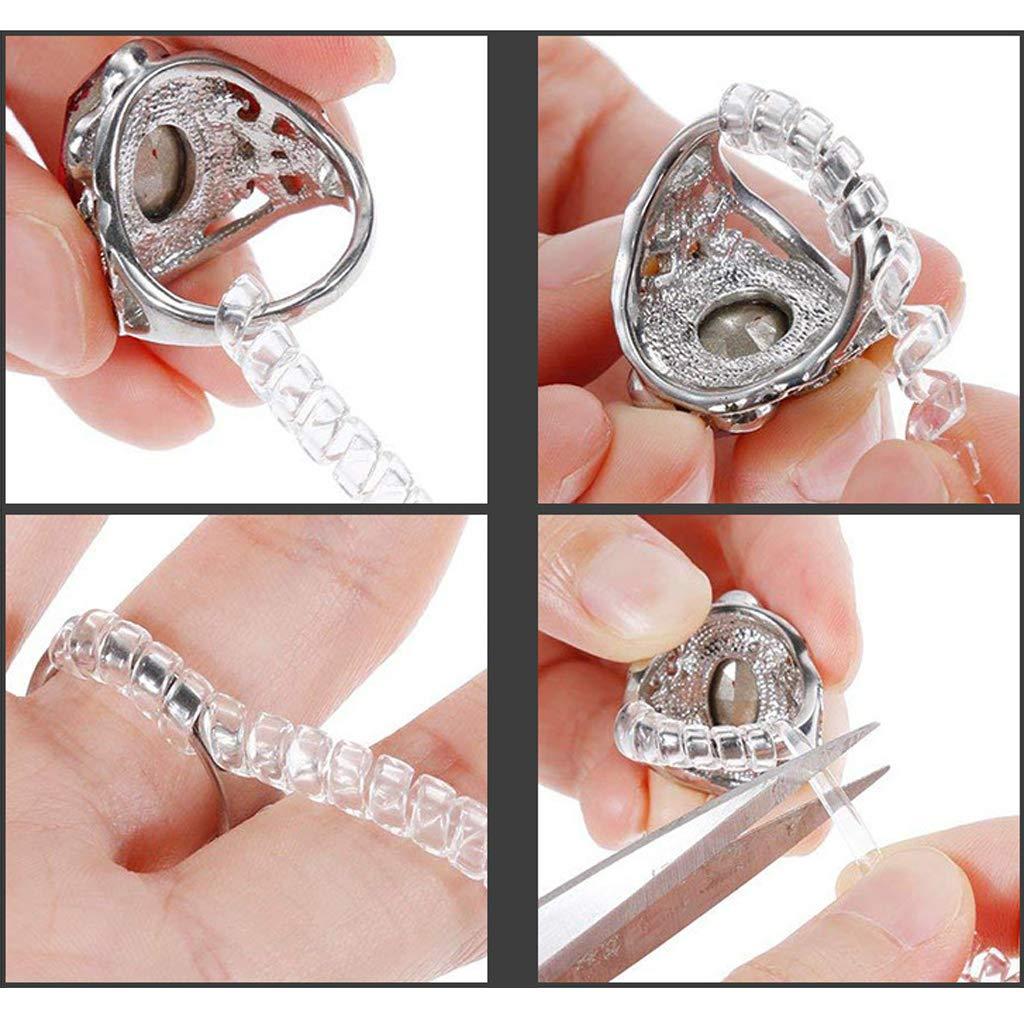 PENG 12 Pack 4 Tamaños Ajustador en Espiral Ajustador de tamaño de Anillo para Protector de joyería de Anillo Suelto: Amazon.es: Hogar