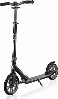 Globber NL 500-205 2-Wheel Folding Kick Scooter - Reflective and Adjustable Height T-Bar - Comfort Handlebar Grips - for K...