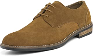 Bruno Marc Men's URBAN-08 Tan Suede Leather Lace Up Oxfords Shoes - 11 M US