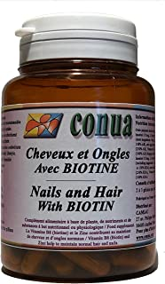 Cabello fuerte uñas y piel con BIOTIN + ZINC. ortiga. vitamina B5 B6 B7 B8. magnesio. L-cisteína. L-Cytin Cápsulas vegetales
