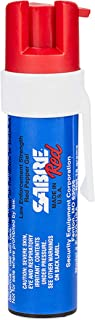 SABRE RED Compact Pepper Gel with Clip – Maximum Strength Police Grade Gel OC Spray, 12 Foot (4M) Range with 35 Bursts (5X Other Brands) – Pepper Gel is Safer and Only Affects Target