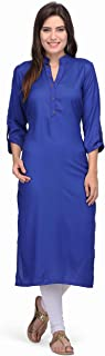 Pret a Porter Blue Colored Stitched Indian Rayon Kurti With Palazzo