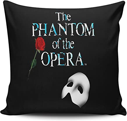 Salleing Custom Fashion Home Decor Pillowcase The Phantom of the Opera Rose Romantic Love Square Throw Pillow Cover Cushion Case 18x18 Inches One Sided Print