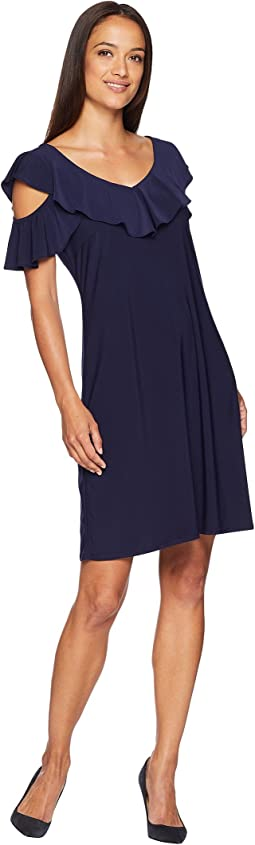 Sloan Cold Shoulder Ruffle Dress