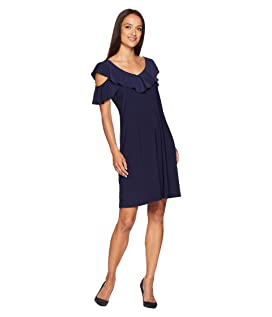 Sloan Cold Shoulder Ruffle Dress
