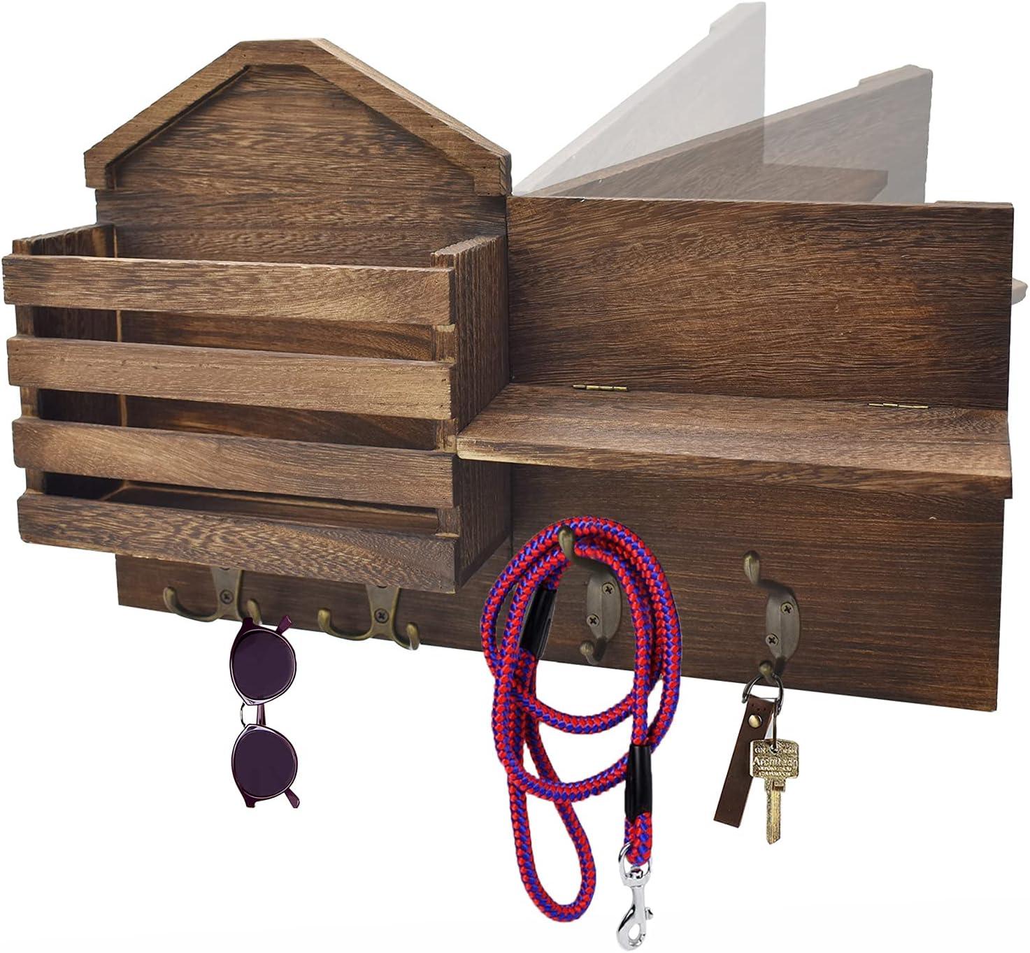 Key Mail Holder Wall Mount Envelope Wooden Lowest price challenge Mounted Spring new work Fol Organizer