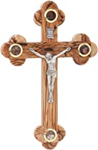 Zuluf Wall Catholic Orthodox Cross With Holy Land Items Christian Religious Gift 23cm - CRS034