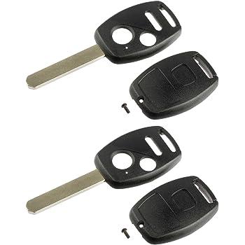 Set of 2 CWTWB1U545, OUCG8D-380H-A Key Fob Keyless Entry Remote Shell Case /& Pad fits Honda Fit Odyssey Pilot Ridgeline