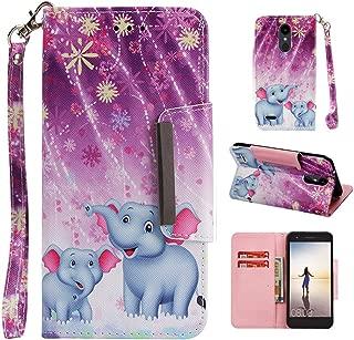 LG Aristo 3 Case, LG Aristo 2 Plus Wallet Case Built in Card Holder Flip Stand Strap,LG K8 Phone Case,LG Risio 4 Case,LG Tribute Empire Case for LG Dynasty/Fortune 2/Rebel LTE/Phoenix/Zone 4/LV3 2018