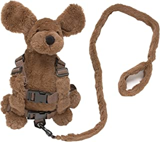 Playette 2 in 1 Harness Buddy Fluffy Dog, Brown