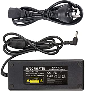 12V 10A Power Suppy, CFSadapter AC 100-240V to DC 12V 10A Switching Power Supply Adapter Charger with 5.5mm x 2.5mm DC Plu...