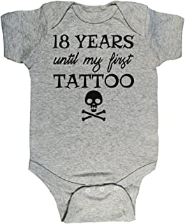 Bebe Bottle Sling 18 Years Until My First Tattoo, Funny Baby Onesies for 0 to 12 Months