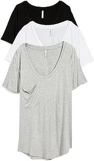 Women's Sleek Jersey Pocket Tee 3 Pack