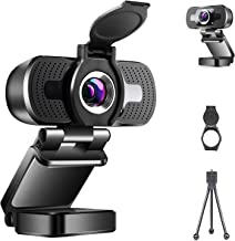 1080P Streaming Webcam with Microphone & Privacy Cover, for Windows Mac OS PC, Laptop, Computer, Desktop, for Live Streami...