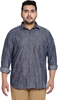 JOHN PRIDE Blue Printed Full Sleeve Shirt