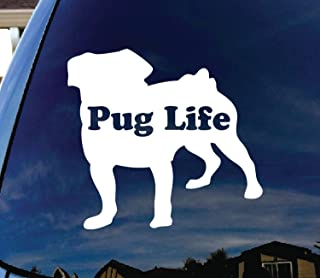 CMI253 Pug Life Puppy Car Window Vinyl Decal Sticker 4