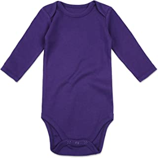 Unisex Solid Baby Bodysuit 0-24 Months