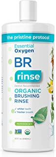 Best Essential Oxygen BR Certified Organic Brushing Rinse, All Natural Mouthwash for Whiter Teeth, Fresher Breath, and Happier Gums, Alcohol-Free Oral Care, Peppermint, Refill, 32 Ounce Review