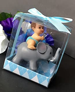 1 Pc Baby Shower Favors Party Decoration Its A Baby Boy Blue Elephant Keepsake by L&R Digital