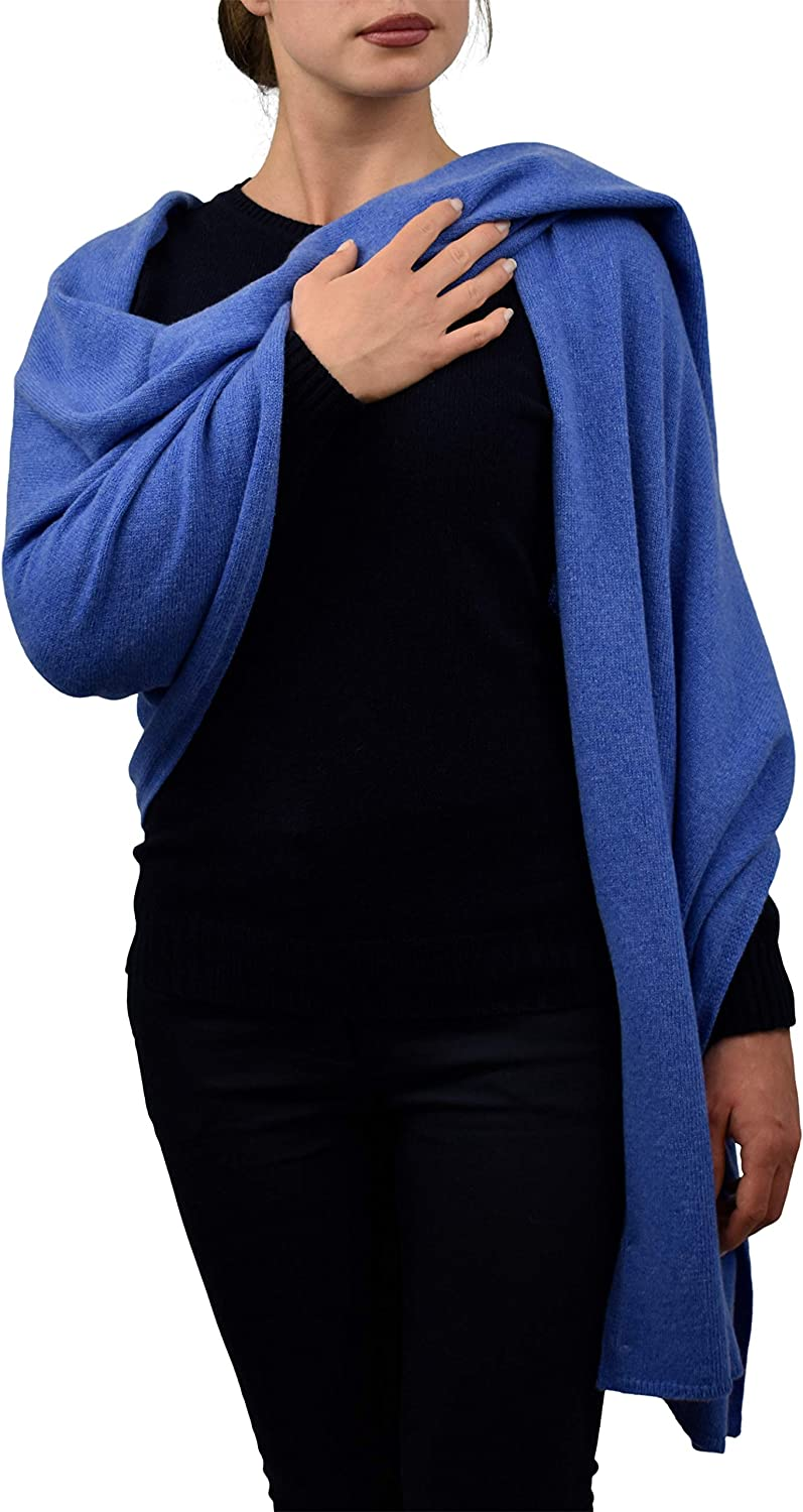 Dalle Piane Cashmere  Stole in 100% regenerated cashmere  Made in   Woman, color  Light bluee, One size