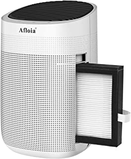 Afloia Dehumidifier for Home,Electric Dehumidifier Capacity Deshumidificador, Quiet Room Dehumidifier Portable Dehumidifier for Bathroom Dorm Room Baby Room RV Crawl Space (White)