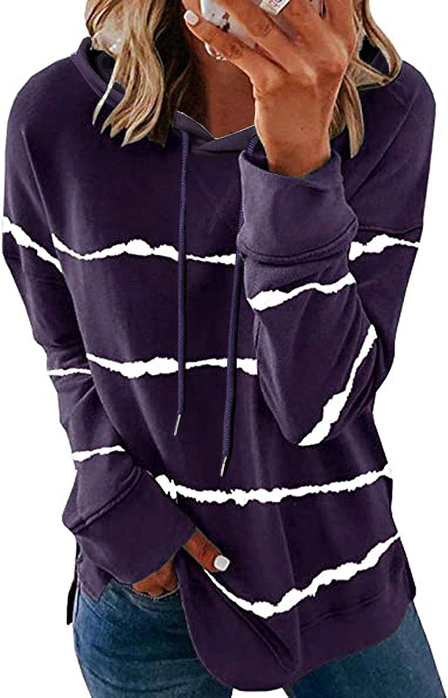 BAGELISE Womens Long Sleeve Tops,Women Casual Cartoon Hoodies Long Sleeve Crewneck Pullover Loose Soft T-Shirts