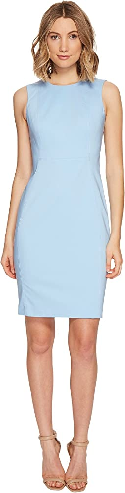 Calvin Klein Cotton Princess Panel Sheath Dress