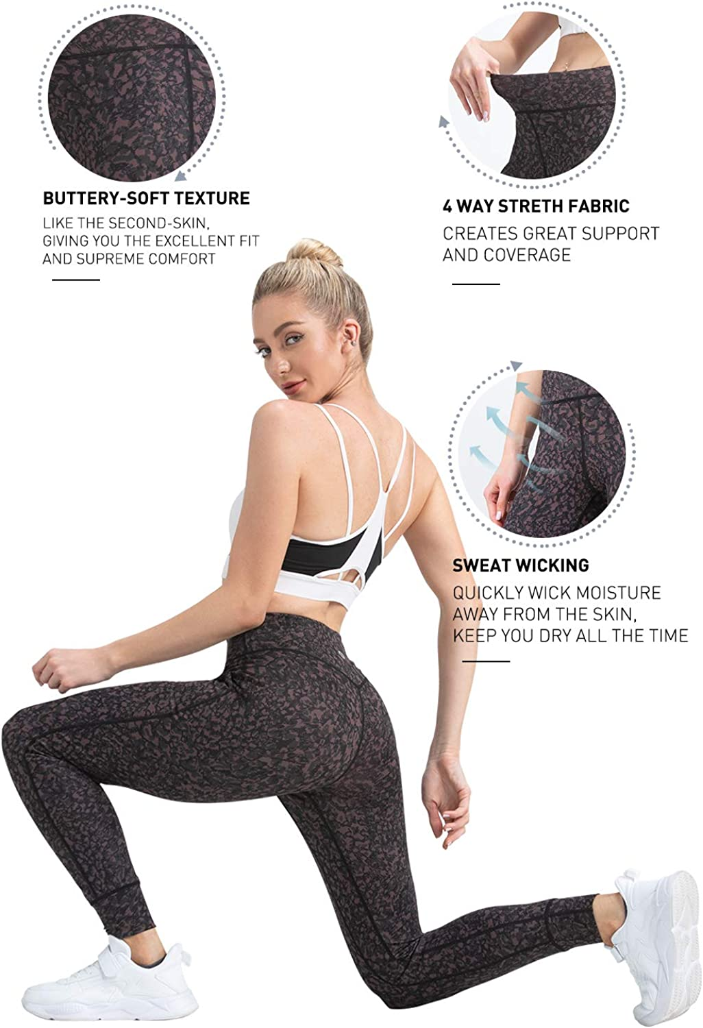 FETY Womens Athletic Joggers High Waist Sweatpant Yoga Pant with Pockets for Workout Running