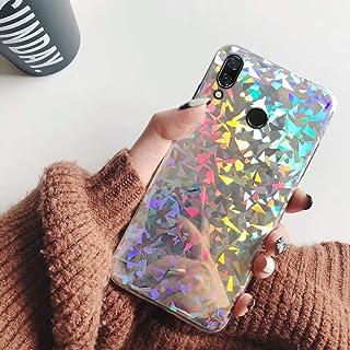 JAWSEU Kompatibel med Huawei P20 Lite fodral glitter flicka, glänsande gnistra bling laser paljetter mobiltelefonfodral mj...
