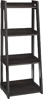 ClosetMaid 3311 No-Tool Assembly Narrow 4-Tier Ladder Shelf, Black Walnut