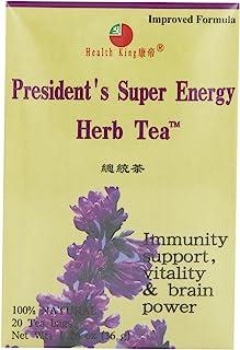 Health King Presidnt Super Energy Herb Tea, Teabags, 20 Count Box