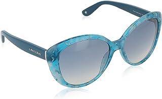 Jimmy Choo Lunettes de soleil TITA Pour Femme Octane / Oil / Azure, Blue Gradient Mirror
