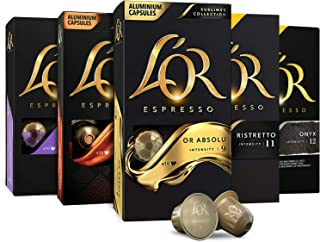 L'OR Espresso Capsules, 50 Pods Variety Pack, Single Cup Aluminum Coffee Pods Compatible with Nespresso Original Machine